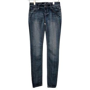 Vanilla Star Size 1 / 24 Skinny Ankle Sequins Denim Jeans Women's Juniors